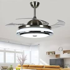 Quality Ceiling Fans With Lights 2018 New High Quality Modern Invisible Fan Lights Acrylic Leaf Led