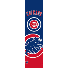 Cubs Flag Team Promark Chicago Cubs Door Banner Walmart Com