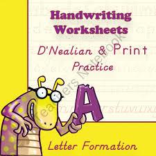 all worksheets d nealian handwriting worksheets printable