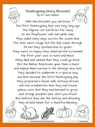 thanksgiving story bracelet poem from a day on teachersnotebook