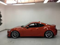 subaru brz matte red fr s on 18x9 5 enkei rpf01 u0027s