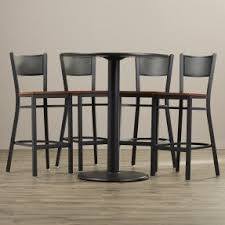 5 Piece Pub Table Set High Top Table And Chairs Visualizeus