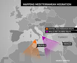 Map Of Mediterranean Sea The Mediterranean U0027s Deadliest Migration Sea Routes U2013 Channel 4 News