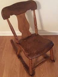 antique sewing nursing rocker low armless wooden victorian