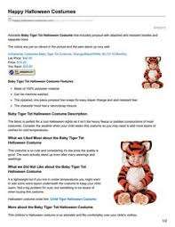 Baby Tiger Halloween Costume Http Www Happy Halloween Costumes Adorable Baby Tiger Tot
