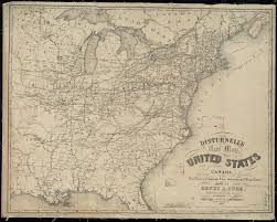 Map Of The United States And Canada by Disturnell U0027s New Map Of The United States And Canada Showing All