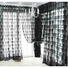fancy lace curtain in black color sheer curtain for home decor