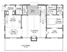 Barn Style Home Floor Plans Like The Kitchen Bar To Meld With The