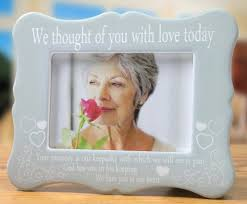 remembrance picture frame memorial frame we thought of you with today