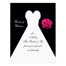 for brides words of wisdom for brides post card bridal gown zazzle