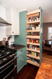 pull out kitchen cabinet drawers kitchen brown lacquer glossy finished slide out pantry storage