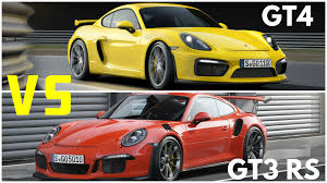 porsche cayman gt3 rs 2016 porsche cayman gt4 vs porsche 911 gt3 rs