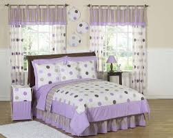 Black And Purple Bed Sets Purple U0026 Brown Polka Dot Circle Bedding Twin Full Queen Girls