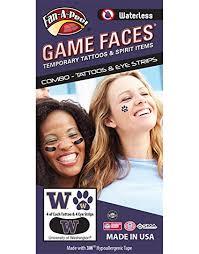 fan faces on a stick amazon com university of washington uw huskies waterless peel