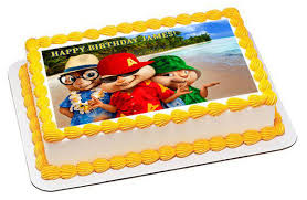 alvin and the chipmunks cake toppers alvin and the chipmunks road chip 3 edible birthday cake topper