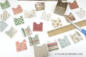 diy advent calendar all you need is scrapbook paper fun cheap