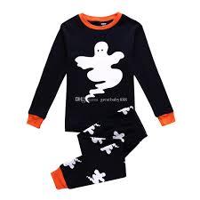 new halloween ghost pajamas cartoon baby long sleeved