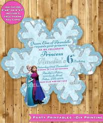 template free printable frozen snowflake birthday invitations