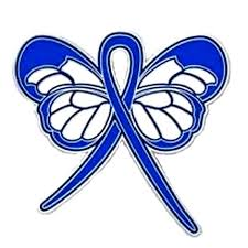 blue support ribbon colon cancer lapel pin blue awareness ribbon butterfly gold plated