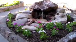 front yard water fountain youtube