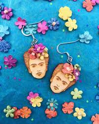 frida earrings frida collection cultura corazón