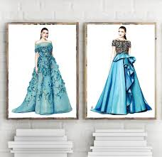 marchesa illustration fashion art fashion design sketch