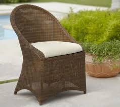 palmetto all weather wicker dining chair honey pottery barn