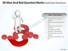 3d doubtful man with blue question mark finding solution to