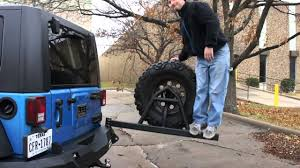 jeep body armor bumper road armor jk tire carrier stress test youtube