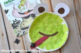 paper plate frog kid craft