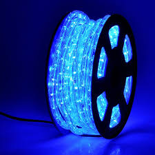 yescom 50ft blue led rope light indoor outdoor
