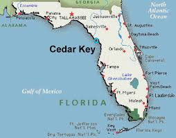 Map Of The Florida Keys Seashells In Cedar Key