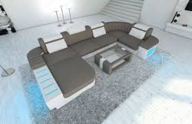 sofa mit led beleuchtung sofa dreams stoff wohnlandschaft bellagio u form mit led