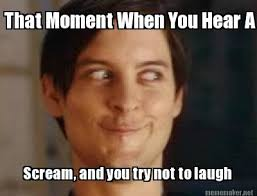 Trying Not To Laugh Meme - meme maker scream and you try not to laugh that moment when you hear a