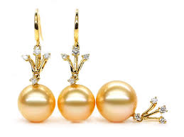 golden pearl rings images Gold south sea pearl jewelry set 10 12mm aaa pearl jewelry sets jpg