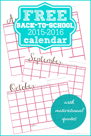 free back to printable calendar 2015 2016