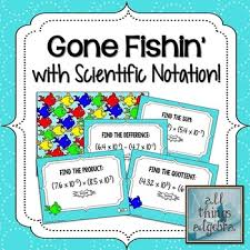 working with scientific notation operations with scientific notation fishin scientific