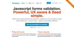 parsley pattern js dynamic feature rich form validation library for jquery parsley js