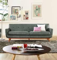 Modern Digs Furniture by Lyon Loveseat Smoke Grey Modern Digs Furniture