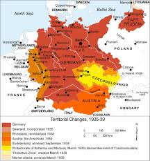 Map Of Germany And Austria by Map Of German Expansion Just Before Wwii 1800x1943 History