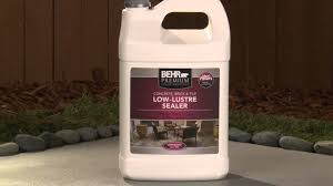 Concrete Patio Sealer Reviews by How To Apply Behr Premium Low Lustre Sealer Youtube