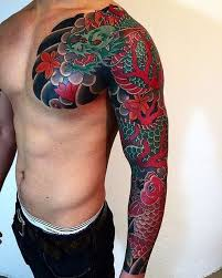 tattoo japanese koi sleeve love the colors i would consider getting but not on breast not