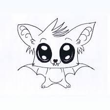 drawn bat cute pencil and in color drawn bat cute