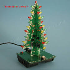 geekcreit christmas tree led flash kit 3d diy electronic learning