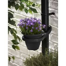 wilko clever drainpipe plant pot holder black garden