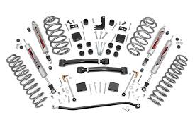 jeep suspension diagram 4in x series suspension lift kit for 99 04 jeep wj grand cherokee