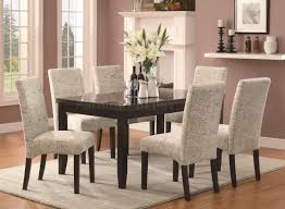 103621 newbridge 7pc dining set coaster script pattern chairs