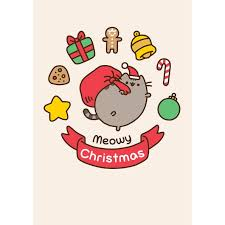 meowy christmas pusheen meowy christmas card meowco