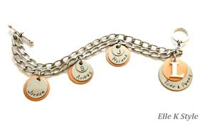 family bracelets all in the family personalized family charm bracelet with copper