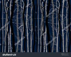 scary halloween trees branches background set stock vector